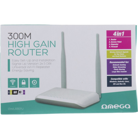OMEGA WI-FI ROUTER 300MBPS