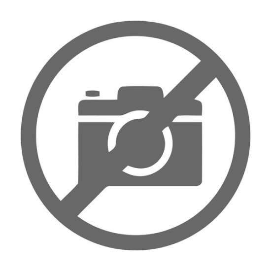 FIZZ ψαλίδι FZ212003-W με χάρακα, μεταλλική λεπίδα, 17cm, μαύρο-λευκό