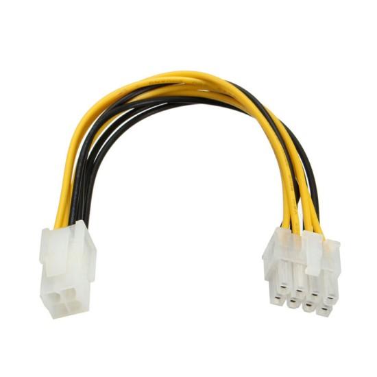 Powertech καλώδιο για MB 4pin θηλυκό  σε 8pin αρσενικό , 20cm