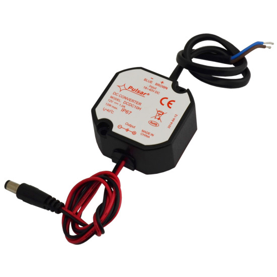 PULSAR ρυθμιστής μείωσης τάσης DCDC10H, IP67, 12 VDC/18-40 VDC